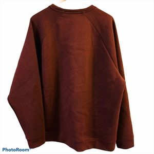 RUSSEL Maroon Fuzzy Pullover